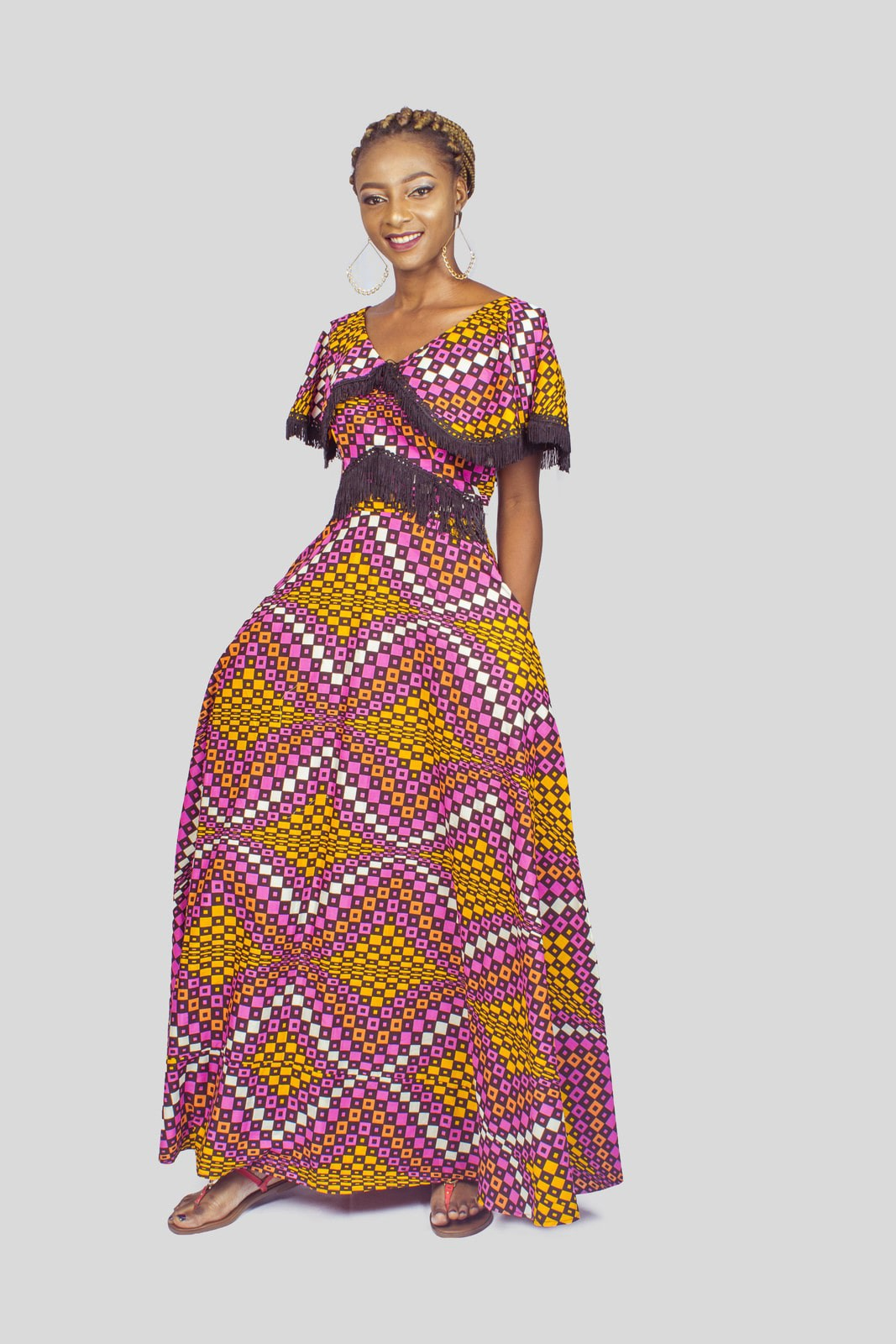African   print Ankara Maxi Dress