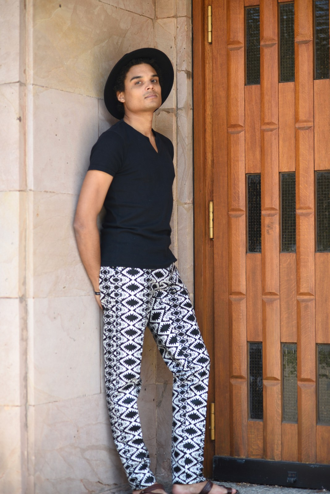Stylish Men S Trousers In African Print Fabric Black And White Summer Afrikrea