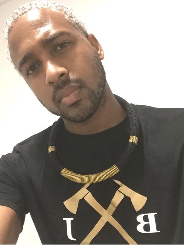 collier africain noir homme