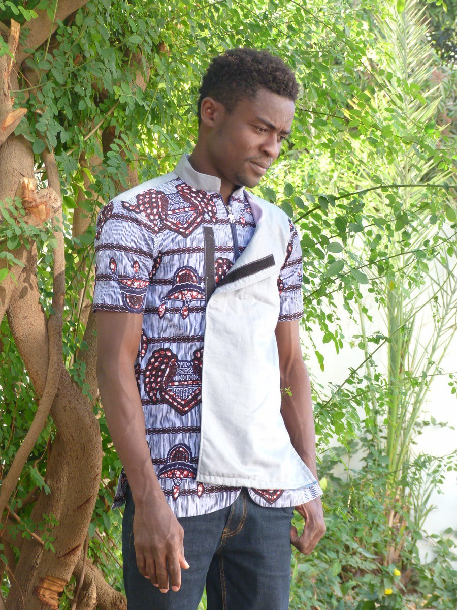 African Ankara Wax Print Superior Quality Men Shirt Cotton Available in S//M//L//XL