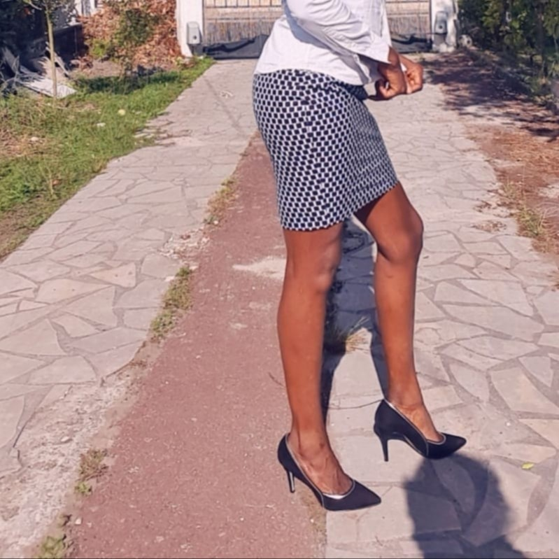 Mini skirts in france Straight Mini Skirt In Wax By Djona Beaute Short Skirts And Mini Skir Afrikrea